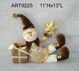 Happy Christmas Holiday Snowman Gift with Gift and Star