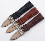 Luxury Grain Cow Black/Brown Replacement Embossed Watchband Genuine Leather High Quality 18mm 20mm 22mm Wrist Watch Band