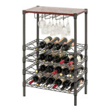 2017 Wholesale 5 Tiers Adjustable Display Metal Frame Wire Shelf Wine Rack for Household