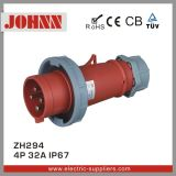 IP67 4p 32A Waterproof Plug for Industrial