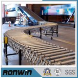 Flexible Extendable O-Belt Driven Motorized Roller Conveyor for Material Handling