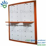 Clothes Display Shelf/Metal Display Rack Wall Mounted/MDF Clothes Shop Furniture
