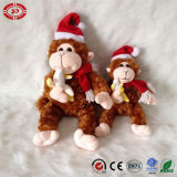 Light Brown Xmas Gift Sitting Monkey Plush Lovely Soft Toy