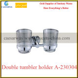 Sanitary Ware Bathroom Accessories Brass Double Tumbler Holder