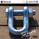 ISO Certificates Metal Anchor Bolt D Shackles