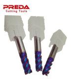Tungsten Carbide 4 Flutes Milling Cutter