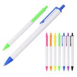 School Stationery Business Office Supply Thin Body Plastic Writing Smooth Ball Pen Custom Logo