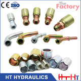 SAE BSPT Stainless Carbon Steel Forged Hydraulic Hose Fitting with Eaton Standard