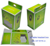 Colorful Headset Packaging Paper Box with Window