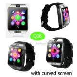 Curved Touch Screen Smart Watch Phone with Camera