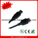 Black USB2.0 Am to Af Extension Cable