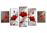 Home Decoration Wall Art Flower Oil Painting (FL5-005)