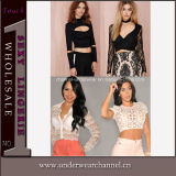 Newest Design Women Tops Fashion Long Sleeve Ladies Shirt (T25290)