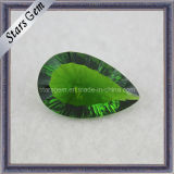 Competitive Price Shining Green Crystal Semi Previous Stone for Jewelry