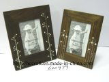 Wooden Vitage Photo Frame with Silk-Screen for Decoration