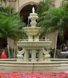 Big Granite Hand Carved Garden Fountain