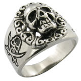 Stainless Steel Jewelry Cool Skull Ring Imitation Jewelry