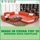 Living Room Furniture Modern Design Leather Sofa with LED Lights
