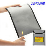 Safe Non-Itchy Silicone Coated Fiberglass Fireproof Document Bag