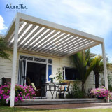 Motorized Waterproof Opening Louvered Roof with Rain Gutter