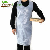 White HDPE LDPE Disposable Plastic Aprons with Folded Bag on Roll