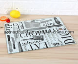 4mm Tempered Glass Cutting Board with Lead-Free Italy Imported Ink Digital Printing Design Glass