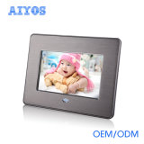 Best Price 7 Inch Digital Photo Frame with Front Metal Frame
