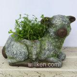 New Fair Lovely Sheep Sculpt Flower Pot Nice Funny Design Decor