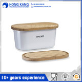 Melamine Bread Box with Bamboo Lid