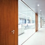 Glass and Plywood Partition, Aluminum Frame Glass Wall Prices Partion