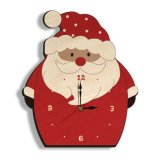 Christmas Children Bedroom Xmas Gift Wood Santa Claus Interior Decoration Wall Clock
