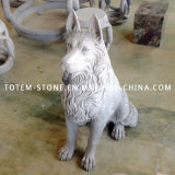 Wholesale Hand Carved Stone Animal Statue, Granite Dog Sculpture