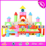 Wholesale Customize 100 Pieces Kids Educational Math Toys Wooden Toy Blocks W13b027