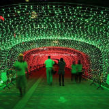 110V Holiday Outdoor Decoration LED Net Christmas Light Warm White Lights
