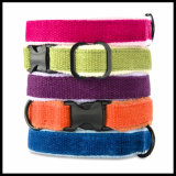 Eco Friendly Cotton Bamboo Pet Dog Collars with Fleece Padding