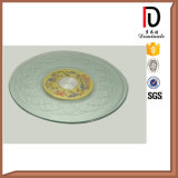 Silk Screen Glass Turntable with Swivel Plate (BR-BL015)