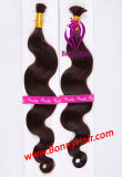 Hair Bulk Body Wave, 100% Virgin Remy Human Hair, Competitive Price, Special Order Can Be Customized