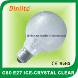 G80-40W 60W Ice Crystal Clear Incandescent Bulb