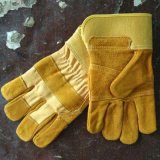 High Quality Professional Industrial Cow Split Leather Working Safety Gloves