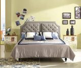 Foshan City Furniture Manufacturers Modern Soft Leather Bed with Headboard
