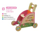 Multifunctional Wooden Cart Push Along Cart Toy Box Toy Cart Wooden Toy