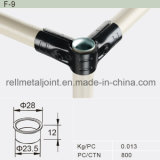 White Zinc Steel Cap for Lean Pipe (F-9)