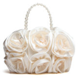 High Quality Designer Wedding Handbag Fashion Silk Ribbon Clutch Bag