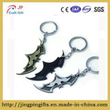 Bat Symbol Key Chain Zinc Alloy Keychain Bat Shape Metal Key Ring Tag for Your Autos, Home or Boat