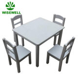 Wood Square Kids Furniture School Table with 4 Chairs