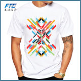 Custom Record Printed Men T Shirt Short Sleeve Casual