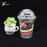 Disposable PP Plastic Water Bottle Juice Cup with Cover