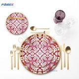 Dubai Wholesale Market Royal Dinnerware Bone China Dinner Sets Crockery for Wedding and Birthday Party