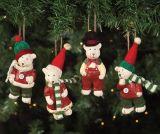 Polyresin Christmas Santa Figurine Hanging Decoration Gifts
