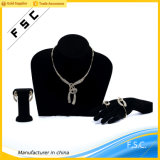 Wholesale Wedding Crystal Gold Cross Necklace Earring Bridal Jewelry Set
